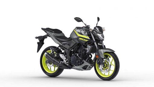 2018 Yamaha MT-03 motorcycle Night Fluo - Studio