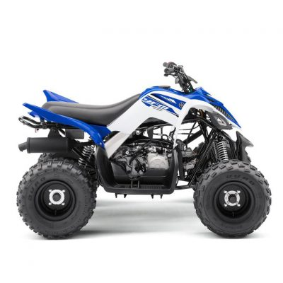 2018 Yamaha YFM90R ATV Racing Blue colour - in studio