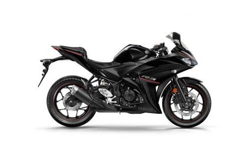 2018 Yamaha YZF-R3 motorbike - Midnight Black colour - Studio