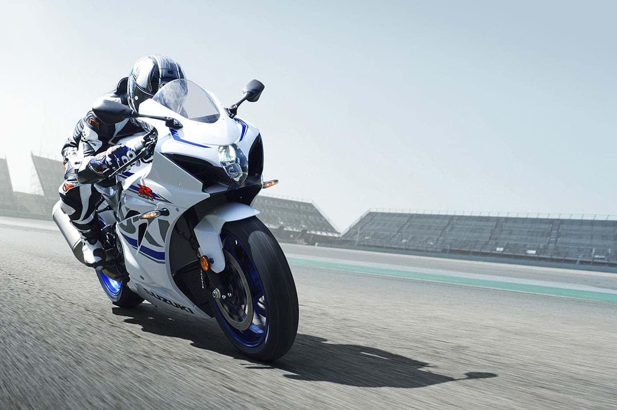 Suzuki GSX R1000 sport motorbike on the race