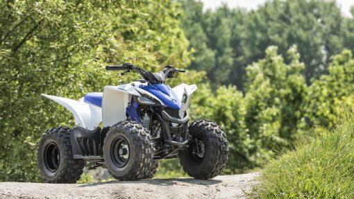 Yamaha YFZ50 ATV Racing Blue - parked