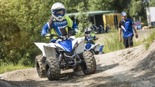 Yamaha YFZ50 Racing Blue ATV - final lap