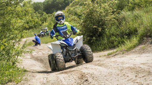 Yamaha YFZ50 Racing Blue - moving