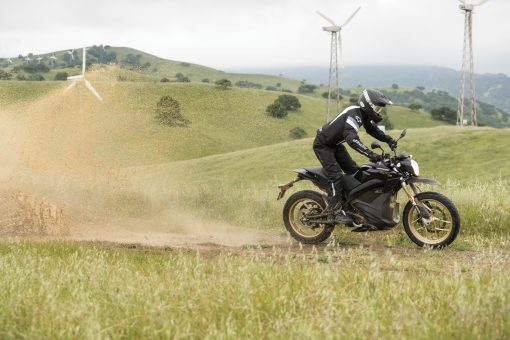 2018 Zero DSR electric motorcycle - outdoors