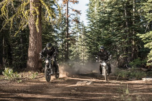 2018 Zero DSR motorcycle - race in the forest