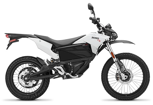 2018 Zero FX electric dirt bike - Alcatraz White colour