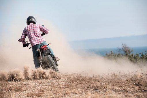 2018 Zero FX electric dirt motorbike - turning