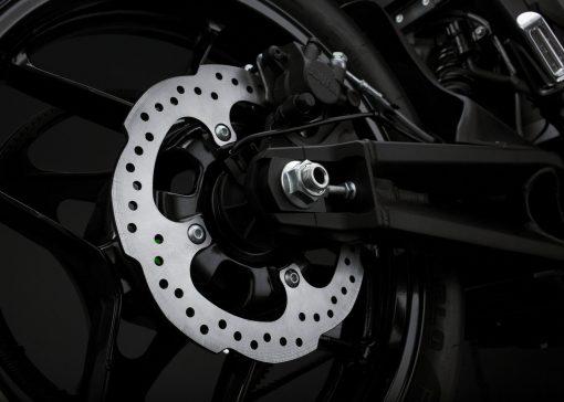 2018 Zero FXS electric bike detail - rear brake