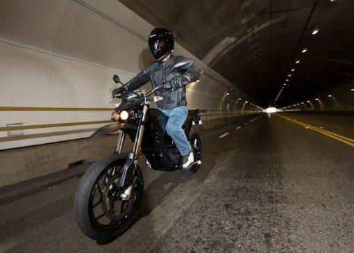 2018 Zero FXS electric motorbike - riding in tunnel