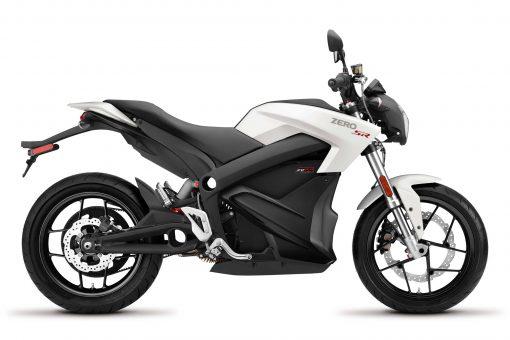 2018 Zero SR motorbike - side view white