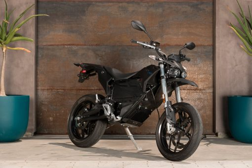 2018 Zero FXS electric motorcycle parked - London