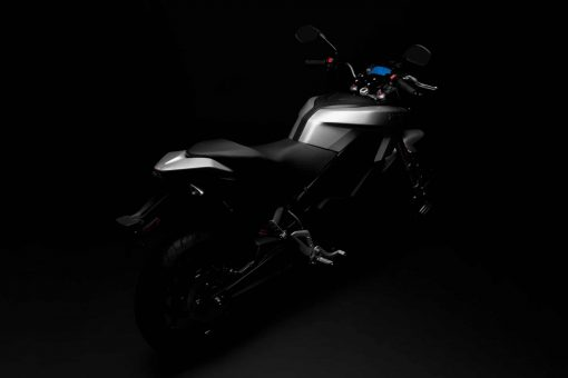 2018 Zero S electric motorbike - silhouette above