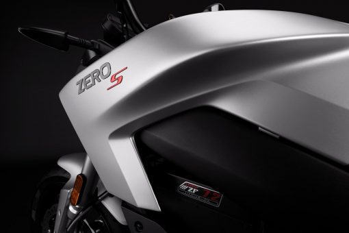 2018 Zero S electric motorcycle detail - tank
