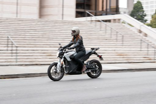 2018 Zero S motorcycle - woman biker, London