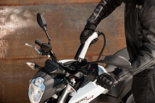 2018 Zero SR electric motorbike outdoors