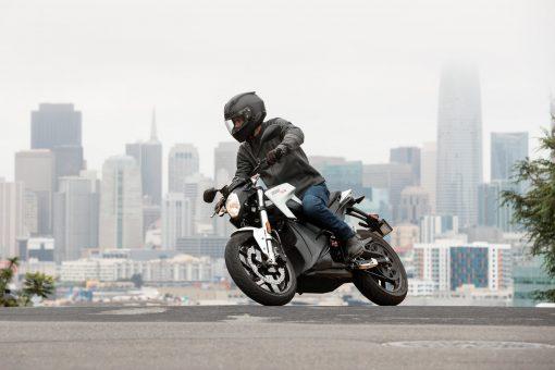 Chelsea Zero SR motorcycle - riding in London