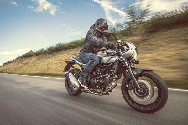 Suzuki SV650X bike in action