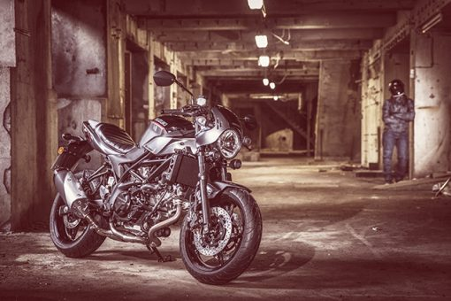 Suzuki SV650X street bike - on the parking