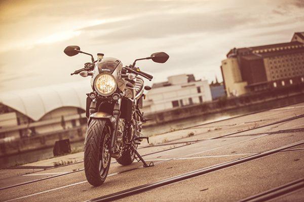 Suzuki SV650X street motorbike - parked