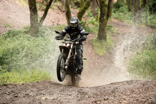 Zero FX electric dirt motorcycle - riding