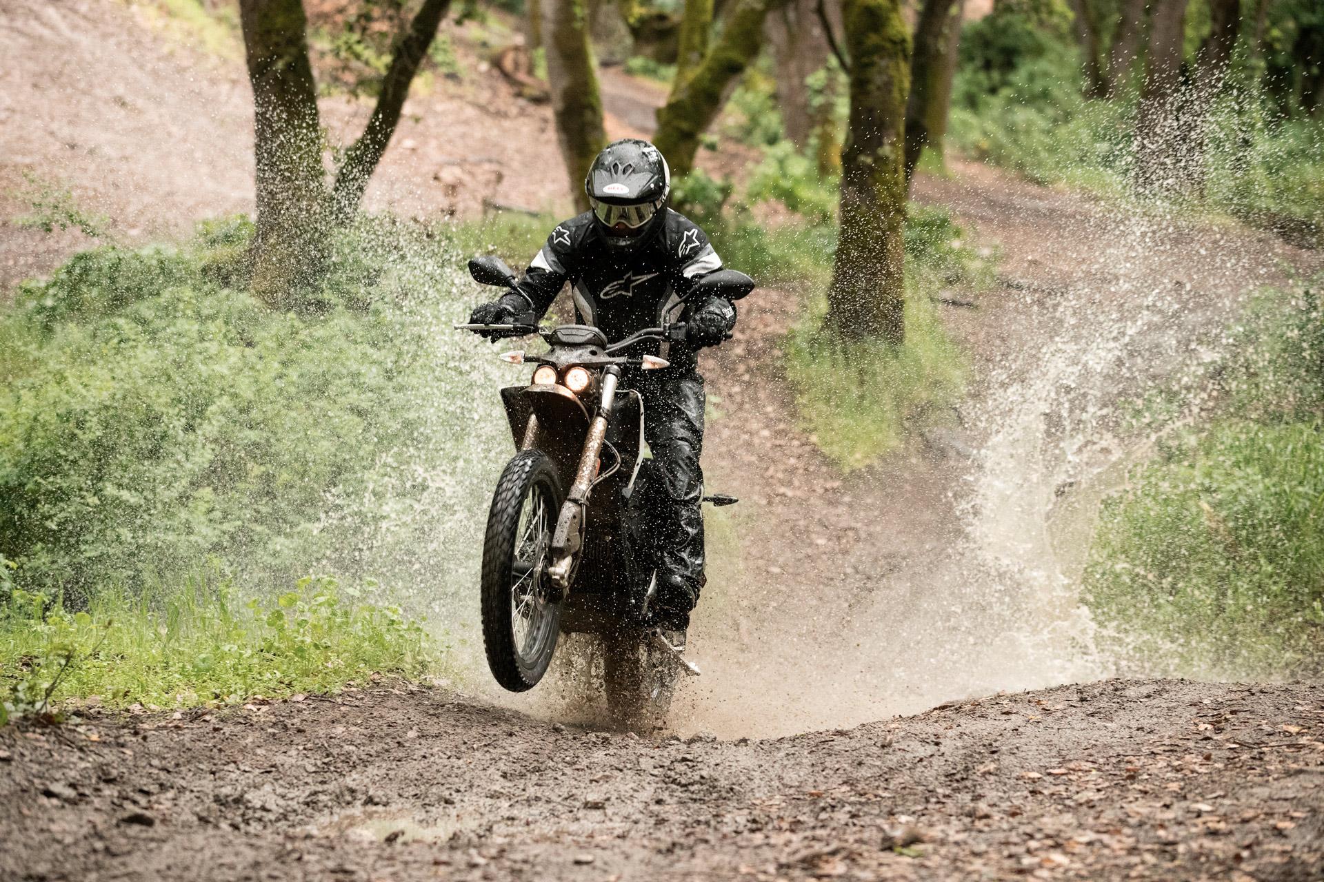Zero Motorbike at the dirt