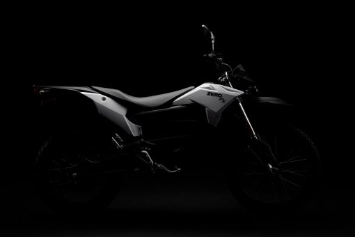 Zero FX electric motorcycle - silhouette in the darkness