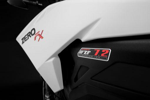 Zero FX motorbike detail - badges