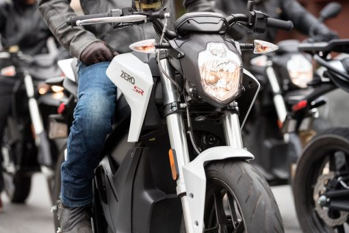 Zero SR electric motorcycle - parked