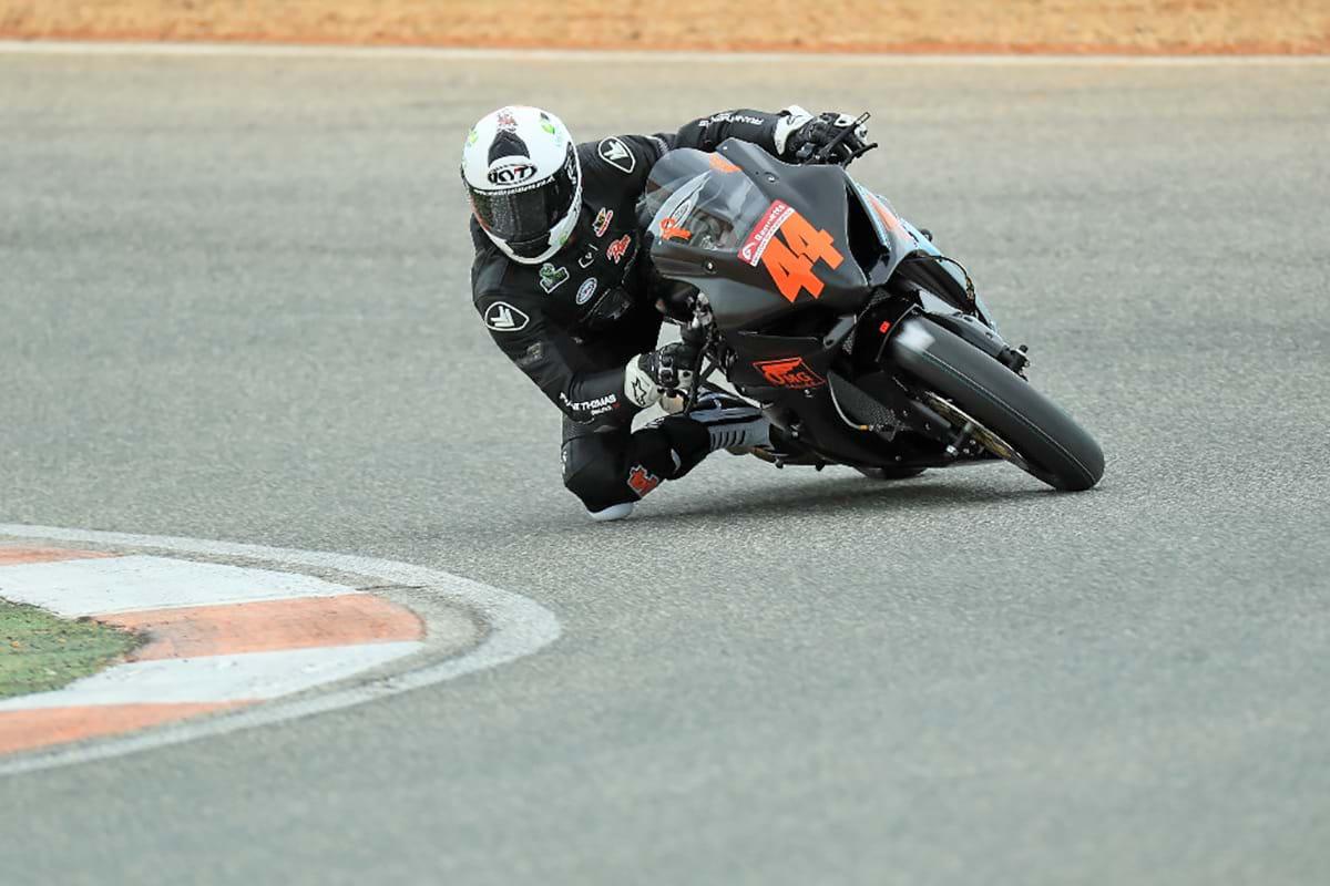 Gino Rea on Suzuki GSX-R1000 - test ride in Spain