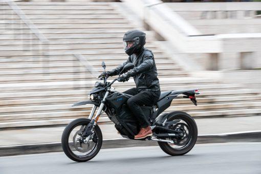 Zero FXS electric bike action - London