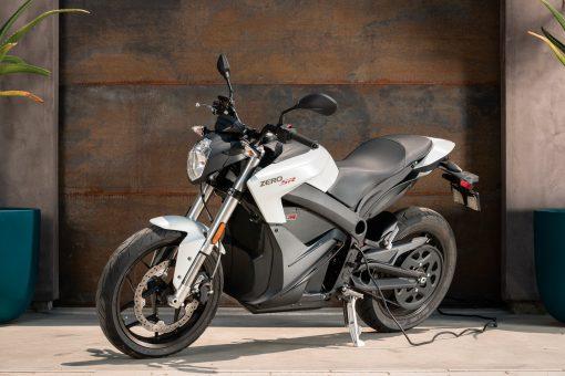 Zero SR electric bike parked - Chelsea