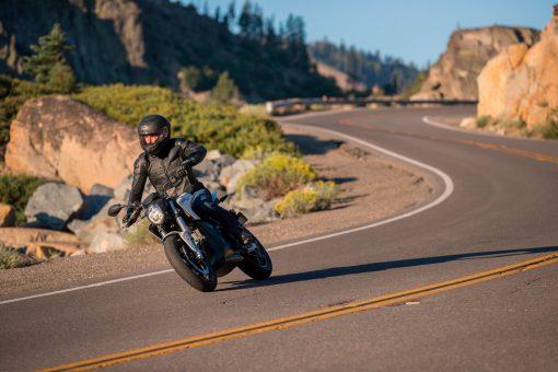 Zero SR sport motorcycle on road