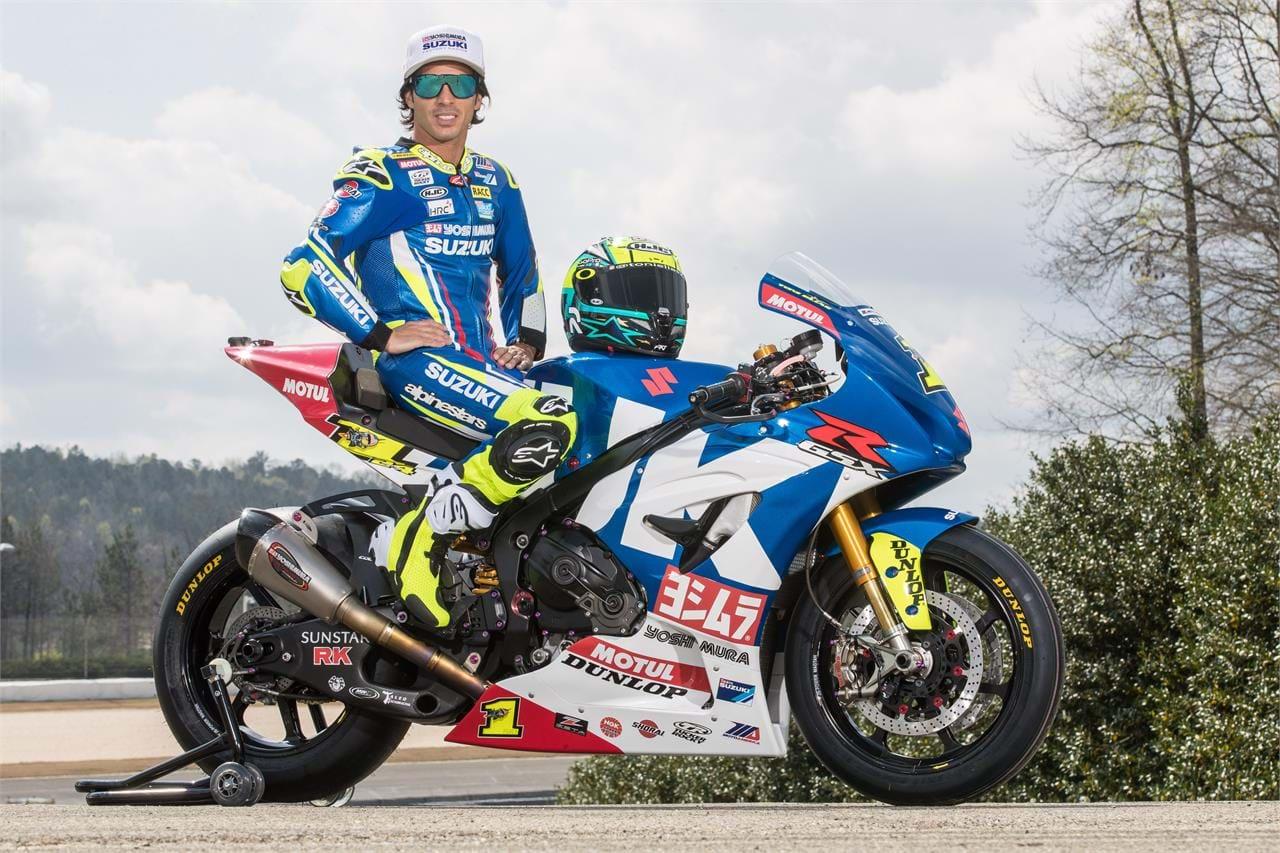 2018 Toni Elias and Suzuki GSX-R1000 motorbike