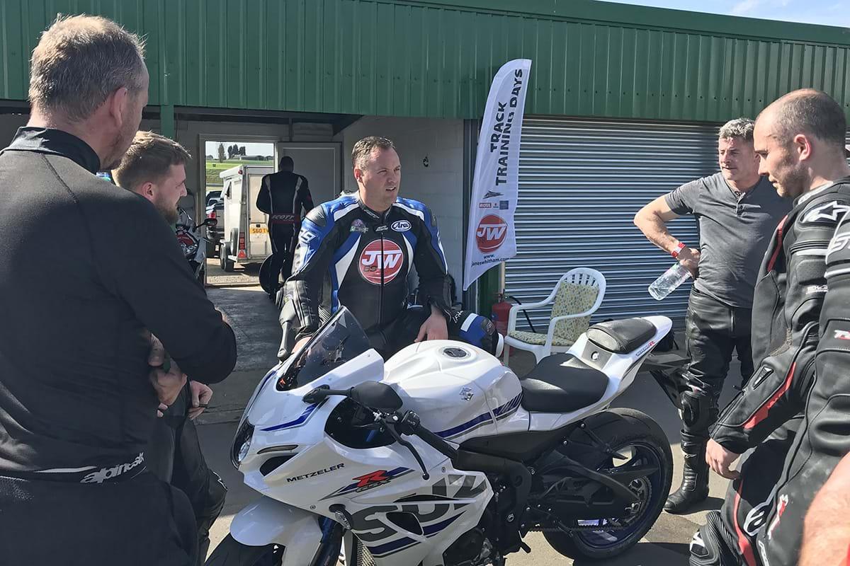 James Whitham track day - new Suzuki GSX-R1000R sport bike
