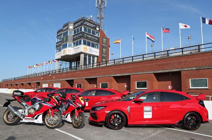 Honda CBR1000RR Fireblade motorcycles parked
