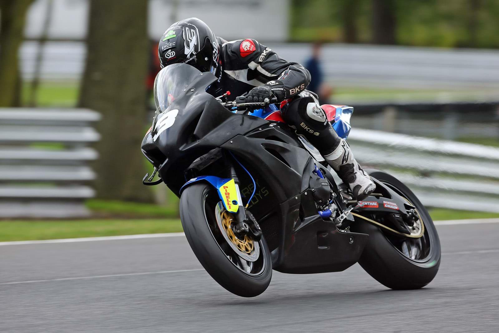 Billy McConnell on his Suzuki GSX-R1000 sport motorcycle