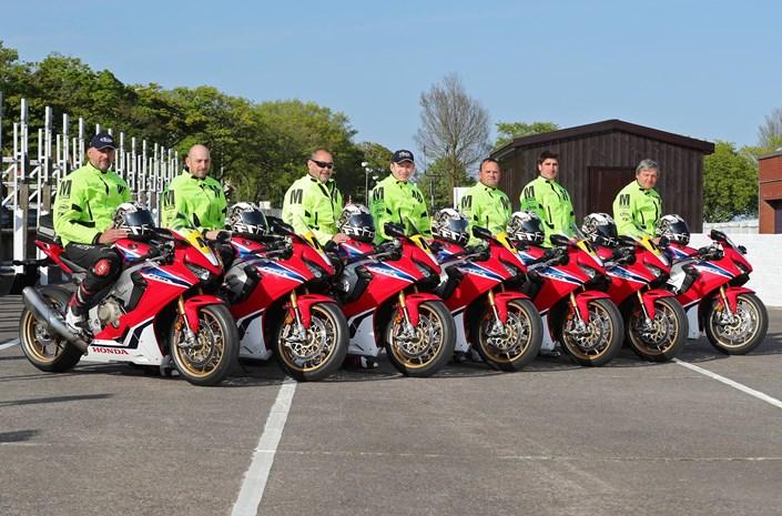 Honda CBR1000RR sport motorbikes - front 3/4