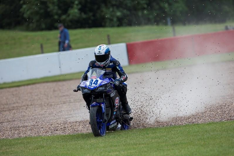 Joep Overbeeke - chain broke and race over