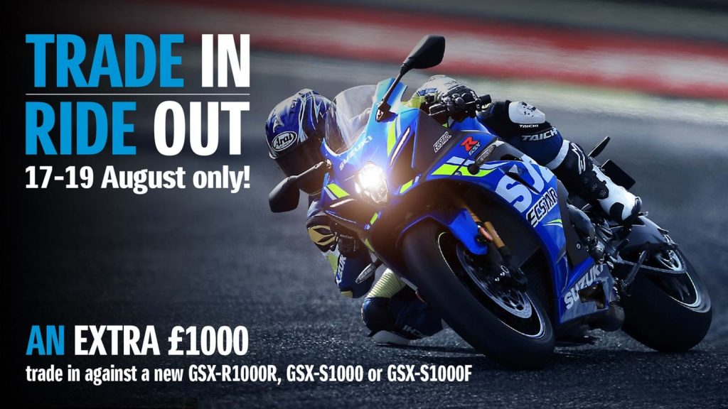 Suzuki Motorcycles offers - bike turning