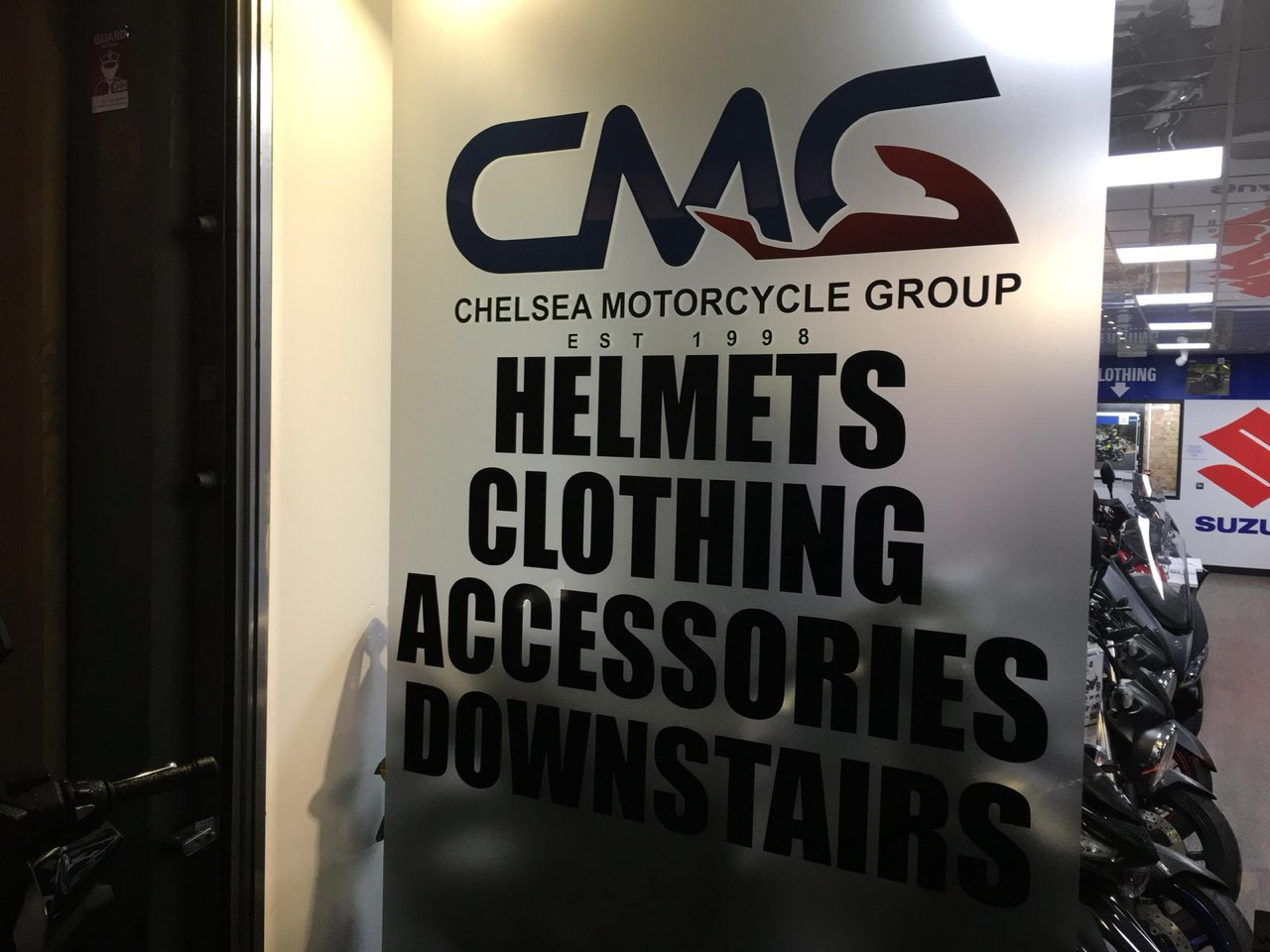CMG motorcycle clothing shop is back to normal! - Chelsea Motorcycles